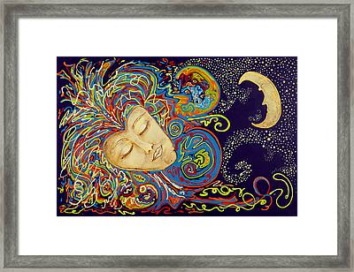 Dream Mask Framed Print by Nickie Bradley