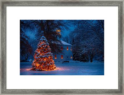 Christmas At The Richmond Round Church Framed Print