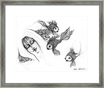 Dream Of Goldfish Framed Print by Angel  Tarantella