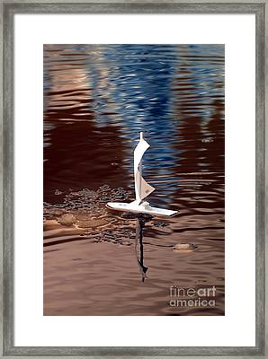 Framed Print featuring the photograph Dream Of Sailing by Rebecca Parker
