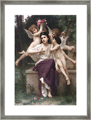 Dream Of Spring Framed Print by Adolphe-William Bouguereau