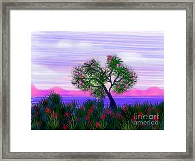 Dream Of Spring Framed Print by Judy Via-Wolff