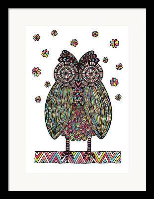 Owl Digital Art Framed Prints