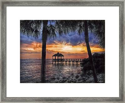 Framed Print featuring the photograph Dream Pier by Hanny Heim