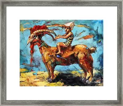 Dream Rider Framed Print by Michal Kwarciak