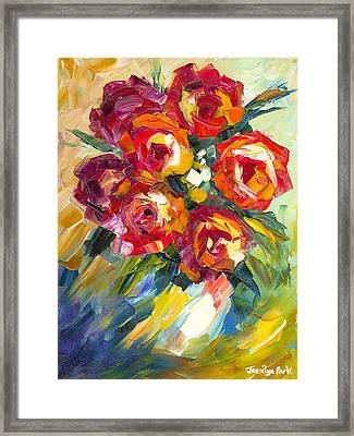 Dream Roses Framed Print by Jessilyn Park