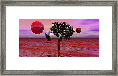 Dream Scapes Series One The Last Tree Framed Print by Sir Josef - Social Critic - ART