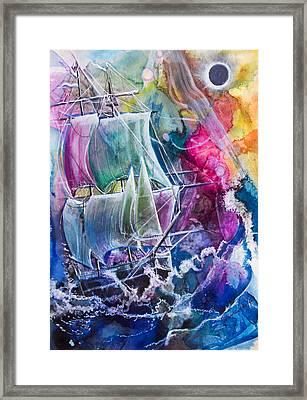 Dream Ship Framed Print by Patricia Allingham Carlson