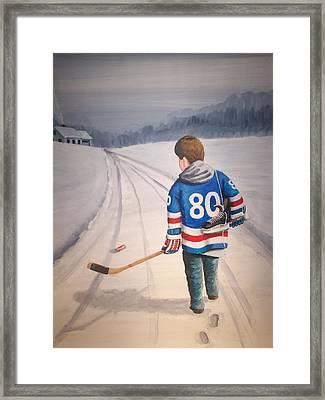 Dream Walking - 80 Olympics Framed Print by Ron  Genest