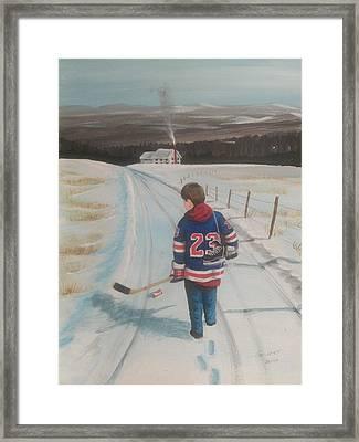 Dream Walking - Lil Ranger Framed Print by Ron  Genest