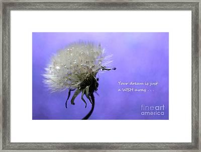 Dream Wish Framed Print by Krissy Katsimbras