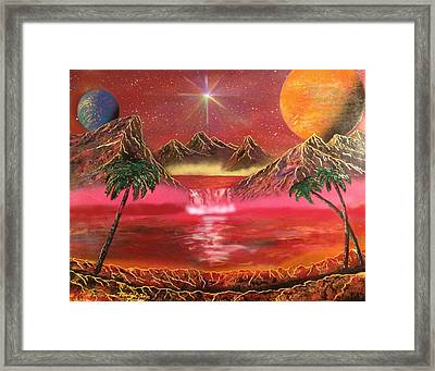 Framed Print featuring the painting Dream World by Michael Rucker