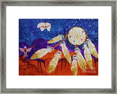 Dreamcatcher Over The Mesas Framed Print