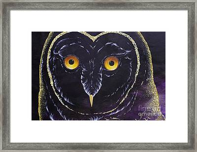 Dreamcatcher Owl Eyes Framed Print by Adam Peot