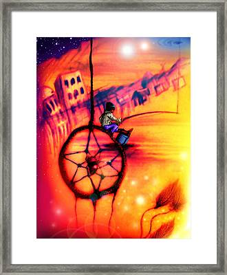 Dreamcatcher Framed Print by Ruben Santos