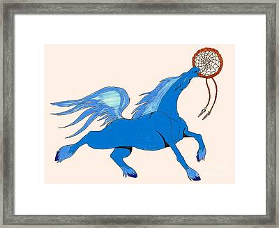 Framed Print featuring the drawing Dreamcatcher by Wendy Coulson