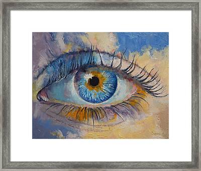 Eye Framed Print by Michael Creese