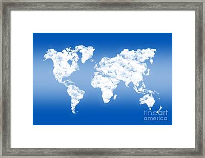 Dreamer World Map Framed Print
