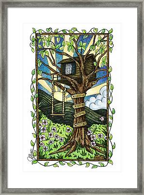 Dreamhouse In A Tree Framed Print