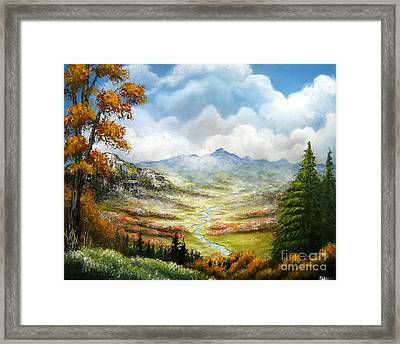 Framed Print featuring the painting Dreamin On by Patrice Torrillo