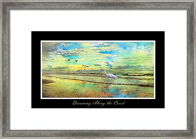 Dreaming Along The Coast -- Egret  Framed Print by Betsy Knapp
