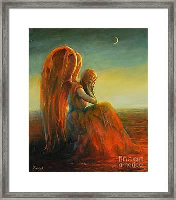 Dreaming Angel Framed Print by Michal Kwarciak