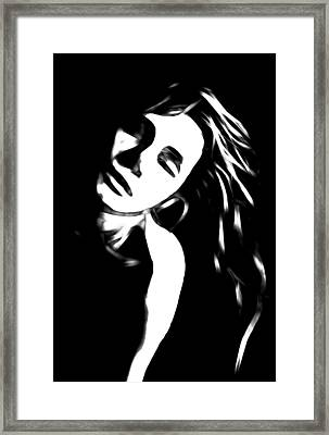 Dreaming Girl Framed Print by Steve K