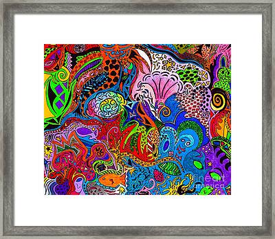 Dreaming In Color Framed Print by M West