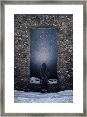 Dreaming In Snow Framed Print