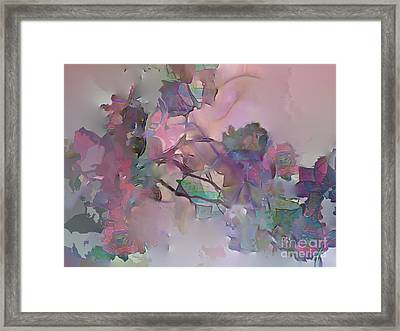 Dreaming Of A Rose Garden Framed Print by Ursula Freer