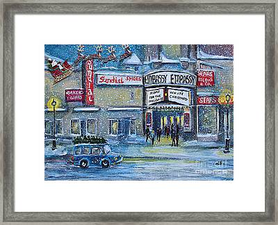 Dreaming Of A White Christmas Framed Print by Rita Brown
