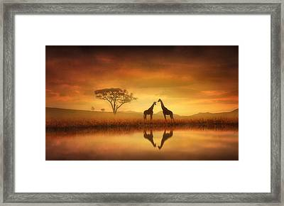 Dreaming Of Africa Framed Print by Jennifer Woodward