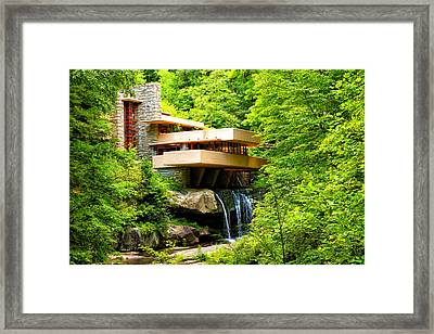 Dreaming Of Fallingwater 3 Framed Print by Rachel Cohen