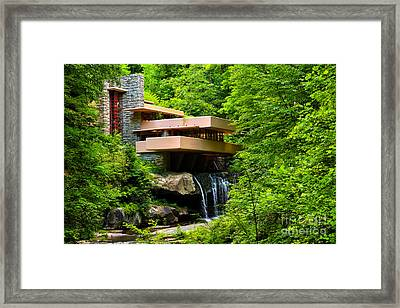 Dreaming Of Fallingwater 4 Framed Print by Rachel Cohen