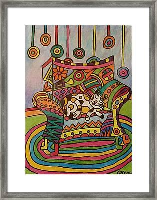 Dreaming Of Lollipops Framed Print by Carol Hamby