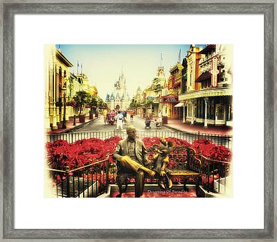 Dreaming Of Paradise Walt Disney World Framed Print by Thomas Woolworth