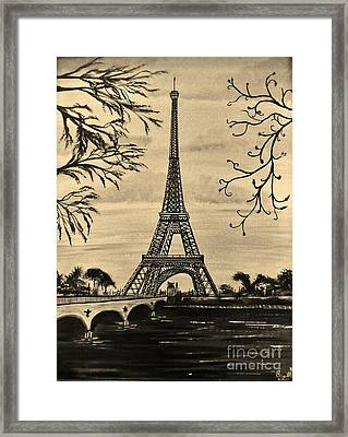 Dreaming Of Paris 2 Framed Print by Brigitte Emme