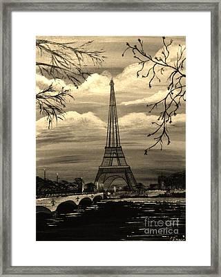 Dreaming Of Paris Framed Print by Brigitte Emme