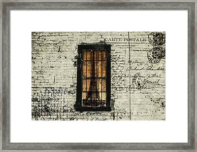 Dreaming Of Paris  Framed Print by Steven  Taylor