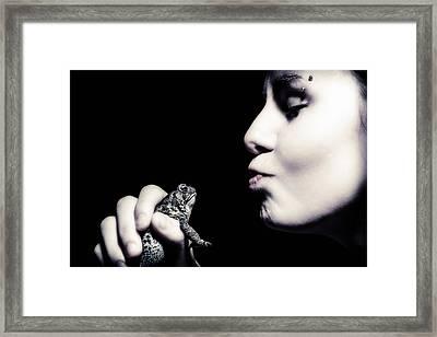 Dreaming Of Prince Charming Framed Print by Sennie Pierson