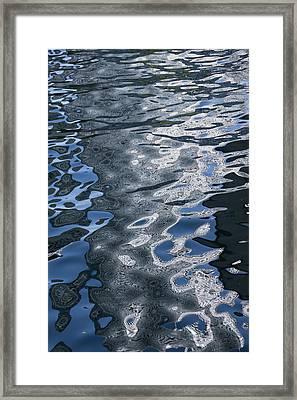 Dreaming Of Silk Dresses - Liquid Curls Twists And Zigzags Framed Print by Georgia Mizuleva