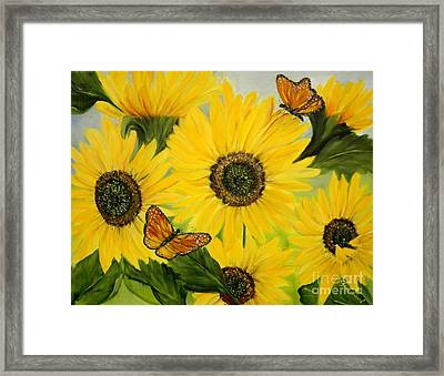 Framed Print featuring the painting Dreaming Of Summer by Carol Sweetwood