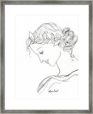 Dreaming Of The Dance Framed Print by Maria Hunt