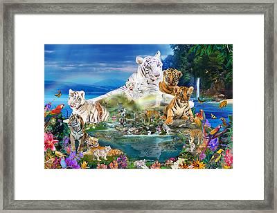 Dreaming Of Tigers  Variation  Framed Print
