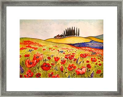 Dreaming Of Tuscany Framed Print