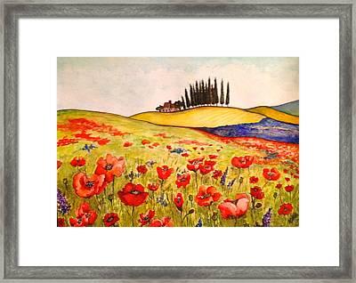 Dreaming Of Tuscany Framed Print by Rae Chichilnitsky