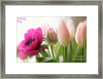 Dreaming Of You....spring Flower ... Feelings Of Love. Framed Print by  Andrzej Goszcz