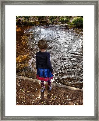 Framed Print featuring the photograph Dreaming On Water					 by Lanita Williams