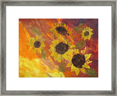 Dreaming Sunflowers Framed Print
