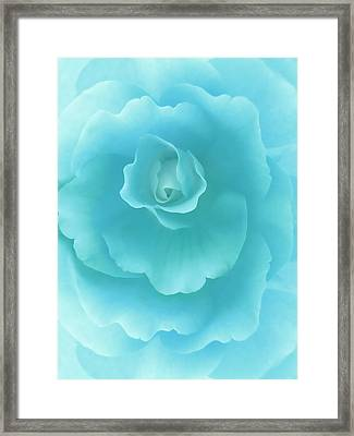 Dreaming Teal Begonia Floral Framed Print by Jennie Marie Schell